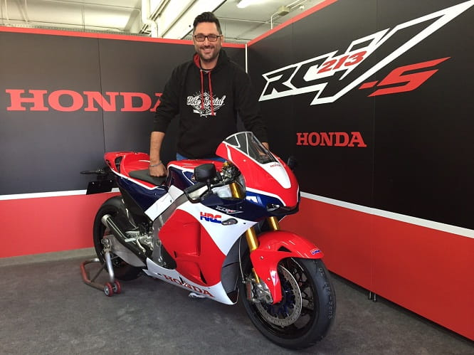 Bike Social's Marc Potter is among the first to ride the RC213V-S