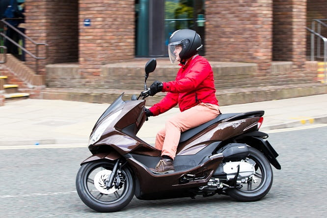 Honda's PCX 125 does not come with optional pink trousers