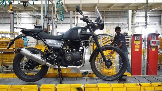 Royal Enfield Himalayan on the production line in India