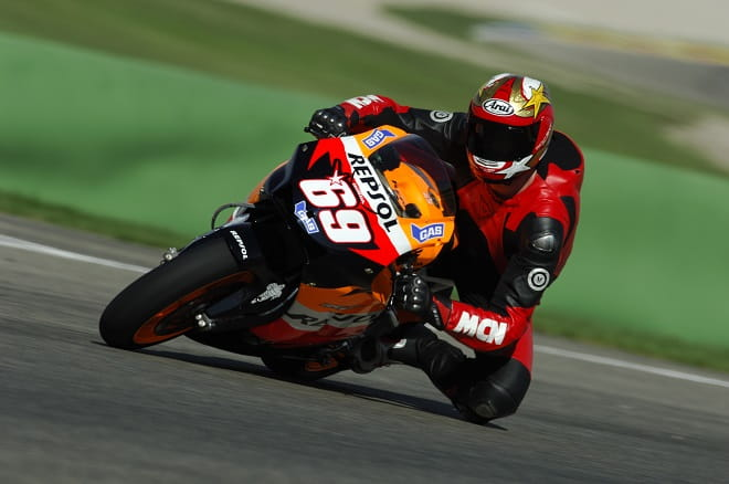 Potter riding Hayden's RC213V at Valencia back in 2006.