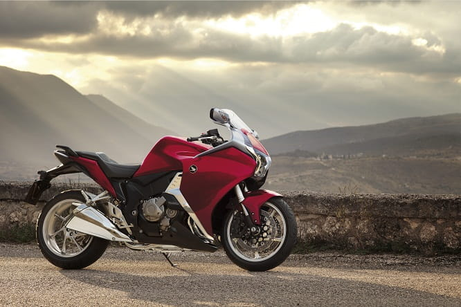 The VFR1200 introduced a new 1237cc V4 in 2009