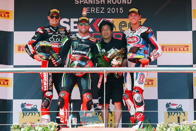 Sykes took the first race win