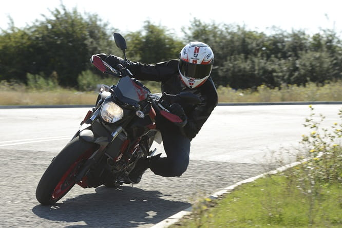 Lightweight with a revvy motor and good, grippy tyres is a great combination