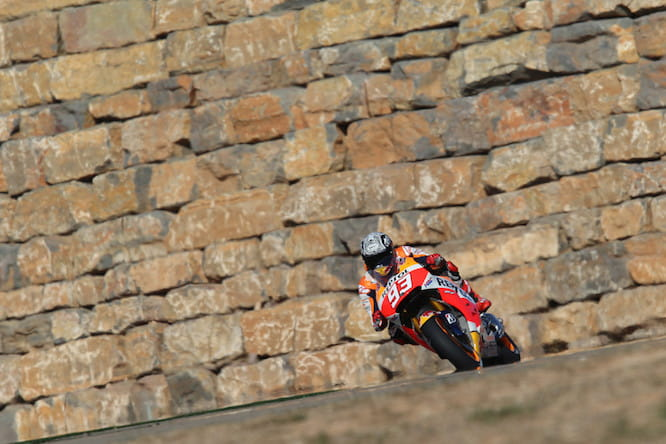 Marquez will start on pole in Aragon