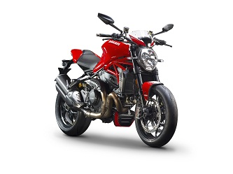 Available in two colour schemes: Ducati Red