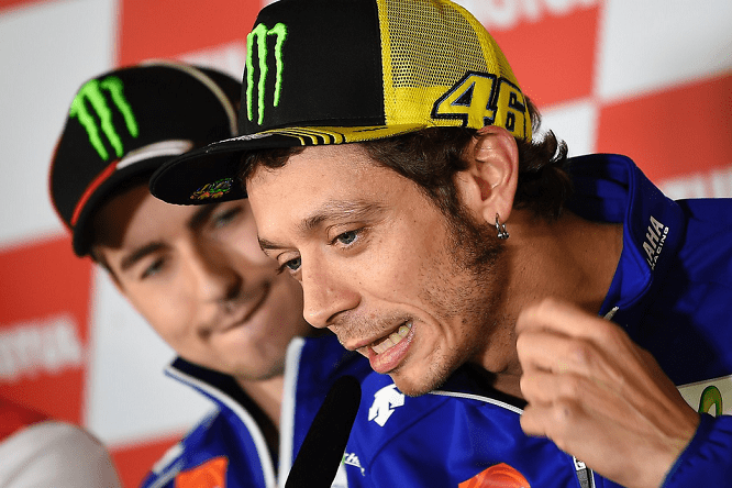Rossi and Lorenzo's relationship is tense