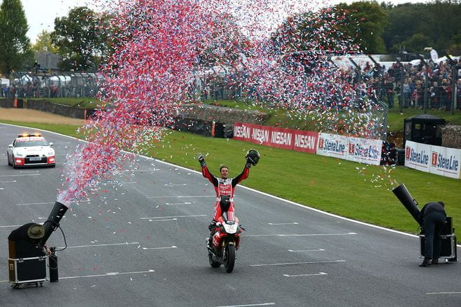 Brookes celebrates winning the title