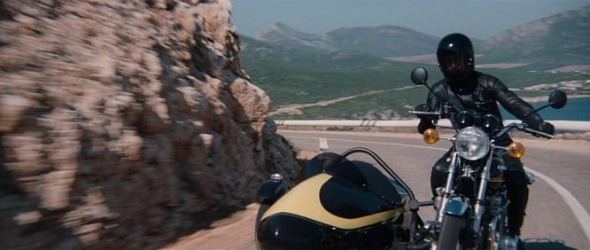 The Kawasaki Z900 in The Spy Who Loved Me was fitted with an exploding sidecar