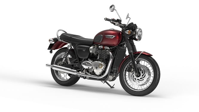 Triumph Bonneville Street Twin in Cranberry Red