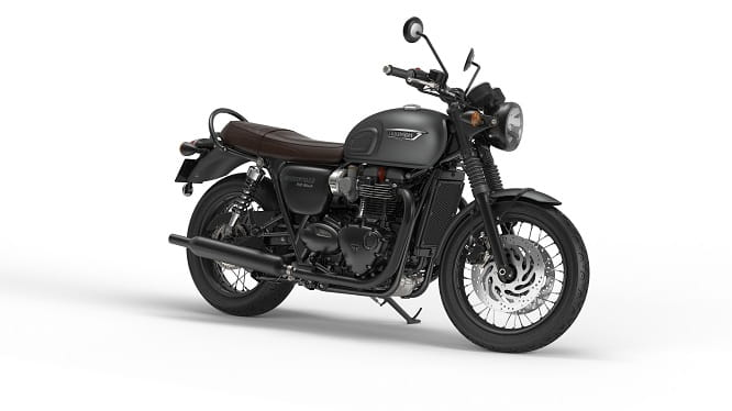 Triumph Bonneville Street Twin in Matt Graphite