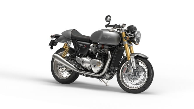Triumph Bonneville Thruxton R in Silver Ice