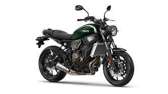 XSR700 is available in two colours: Forest Green and Metal Garage