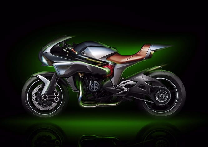 Kawasaki Concept 'Spirit Charger' - an H2 designed for longer journeys