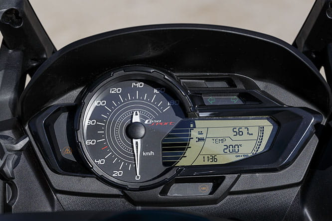 BMW C650 Sport clocks