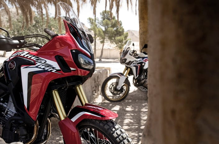 Honda's new CRF1000L Africa Twin on test in Africa.