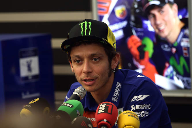 Rossi said the FIM and Dorna had told them not to speak