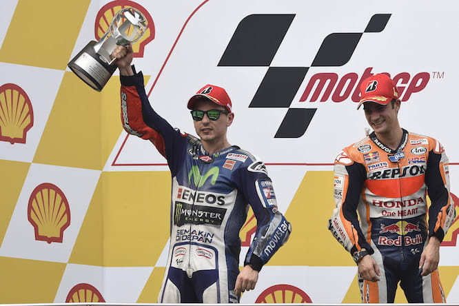 Lorenzo has apologised for the gesture made at Rossi
