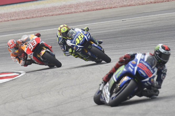 Lorenzo was ahead of the Marquez Rossi scrap