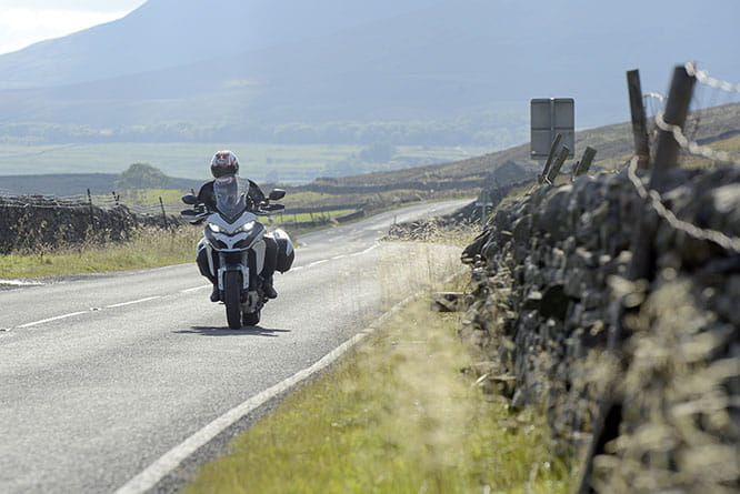 Opting for the scenic route around the Dales and Pennines, the Multistrada conquered some incredible roads