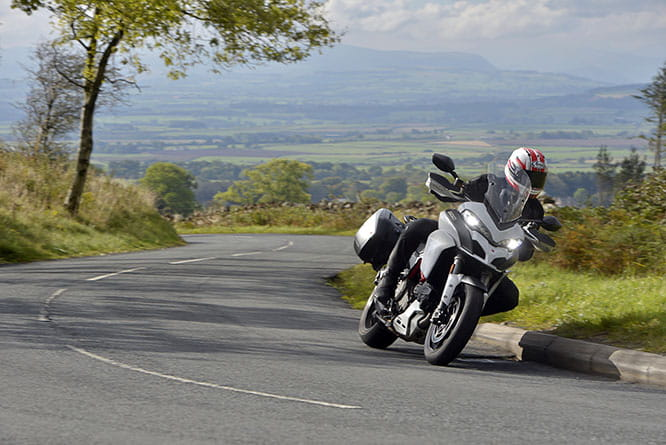 Powerful with over 100 ft-lbs of torque pulls the Multistrada up the hills