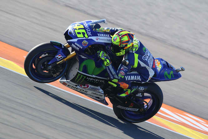 Valentino Rossi crashed out of the session