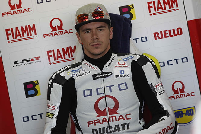 Redding in his new leathers