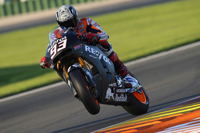 Marquez topped the timesheets on Day 1 of testing