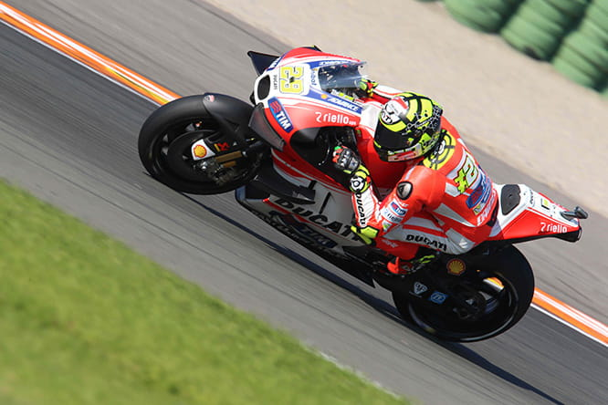 Iannone was looking good on the Ducati