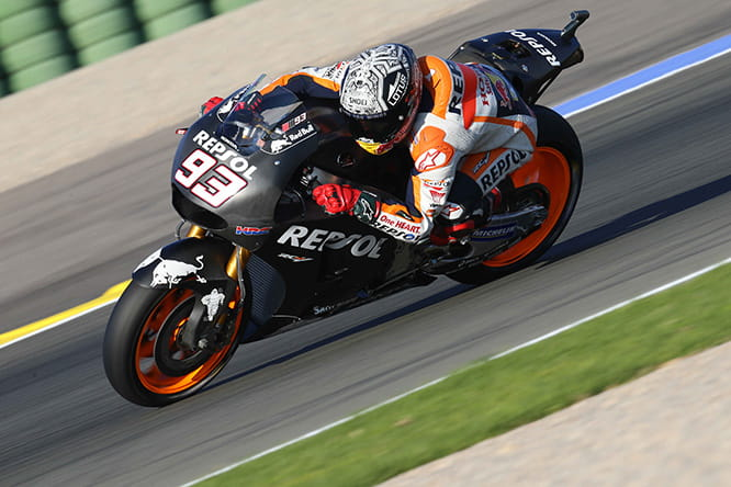Marquez ended the test on top