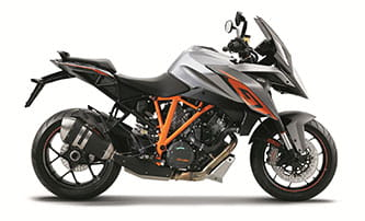 KTM Super Duke GT is available in two colours: grey or orange