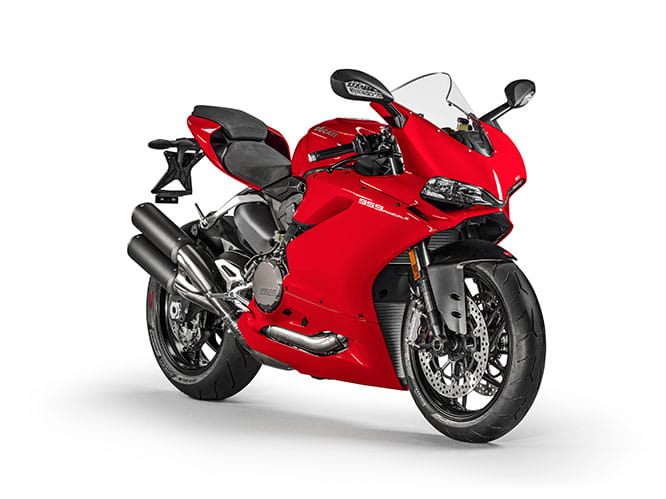 New 959 Panigale is available in either red or white, and there's a price difference