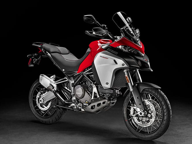 "19"" front wheel and 17"" rear makes the Multistrada 1200 Enduro ideal for big adventures"