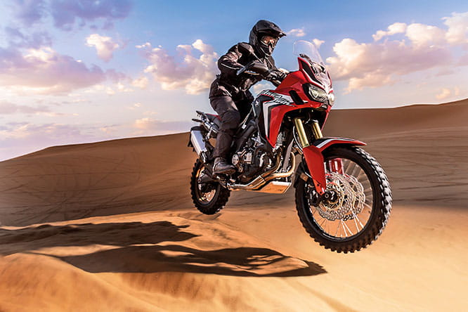 Long awaited Africa Twin which Bike Social will be riding in December