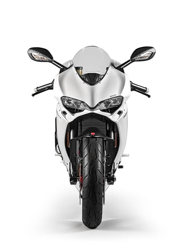 Looks like a Panigale, because it is. It may be the smallest sports bike in Ducati's range but it's a missile.