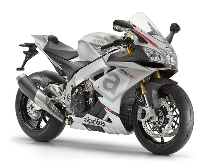 Updates for the RSV4 includes improved rear suspension