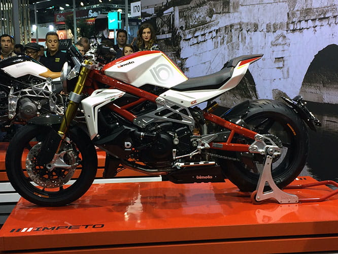 Supercharged Ducati engine fires Bimota's new super naked