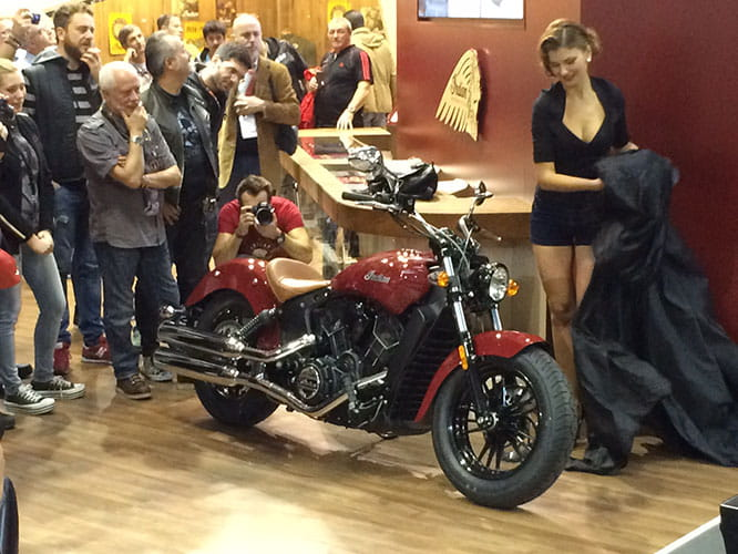 Indian Motorcycles unveil the Scout Sixty at the Milan Show