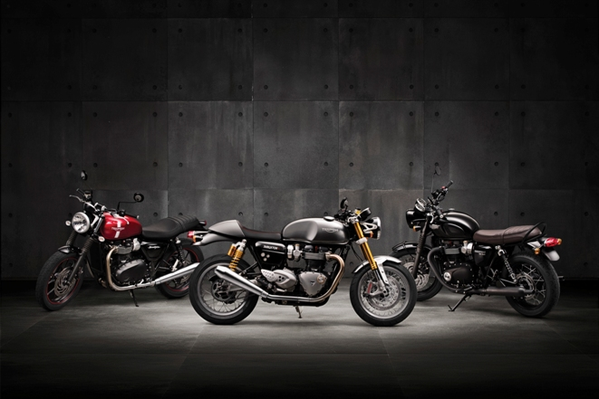 Triumph Street Twin, Thruxton R and T120 Black