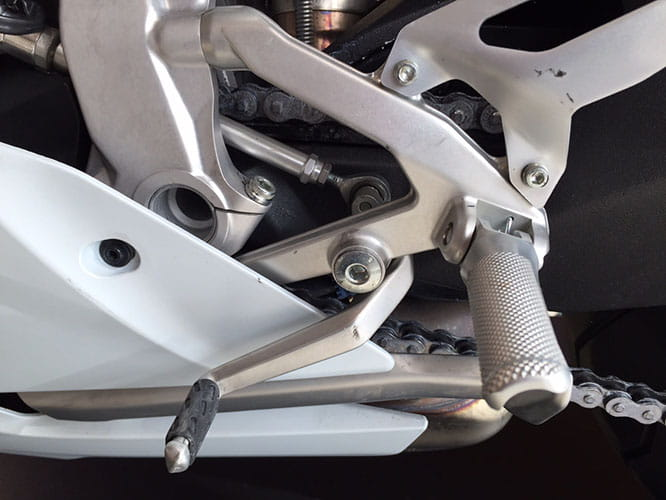 Aluminium billet footrests are new