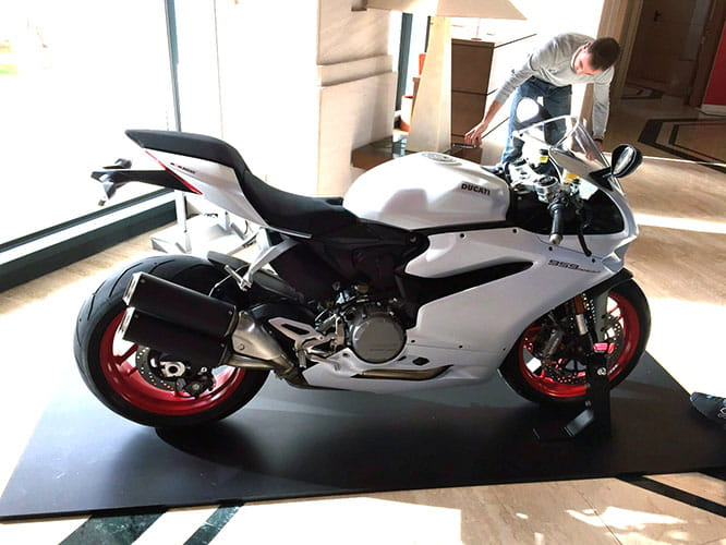 White version of the 959 Panigale costs £13,295
