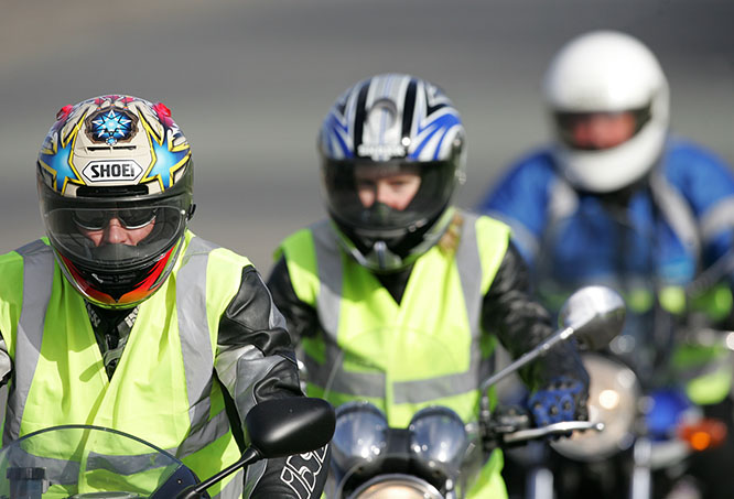 Most training schools use hi-vis as standard