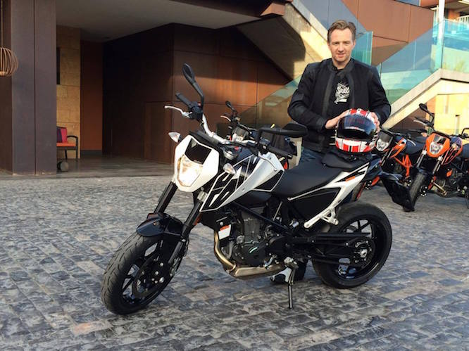 Michael Mann with the KTM 690