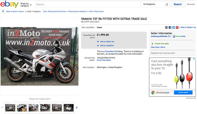 A '99 R6 for under £2000