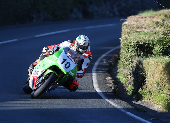 Hickman at the Classic TT