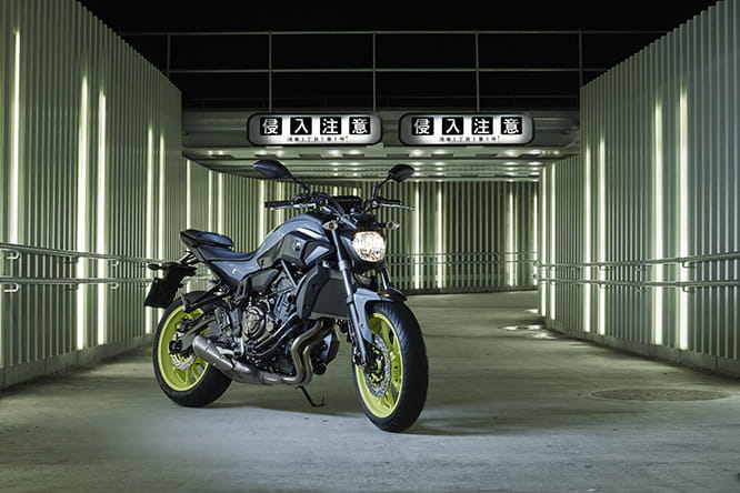 Hyper-popular 689cc MT-07 from Yamaha
