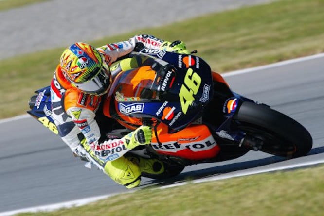 Rossi started out with Honda in the premier class