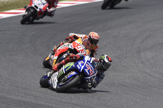 Marquez crashed out for the third time in Catalunya