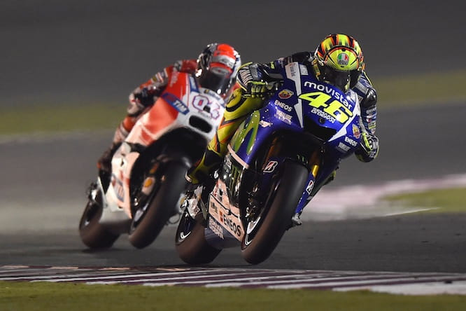 Dovizioso pushed Rossi until the end
