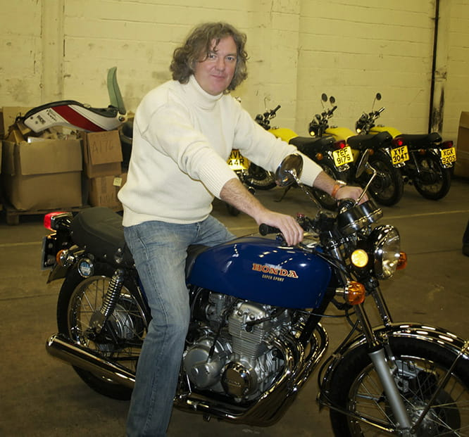 Bike mad, ex-Top Gear man, James May