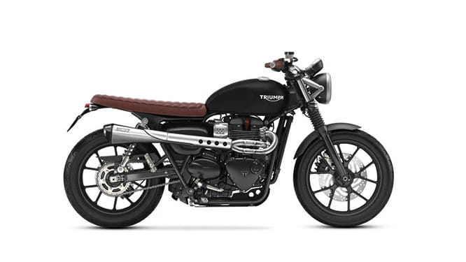 Triumph Street Twin with Scrambler kit; £1750 on top of the £7300 base bike price